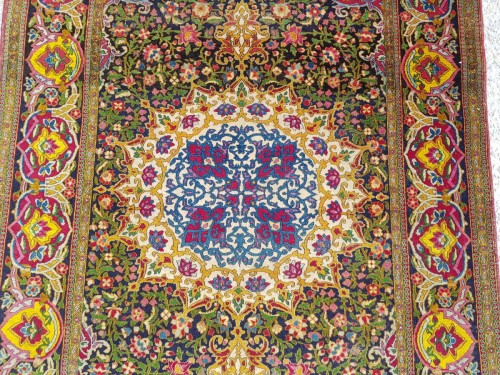 - Teheran Wool Kork carpet - Iran Circa 1880 19th