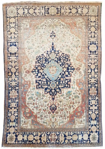 Kachan Mortachem Kork Wool carpet - Iran 19th Century