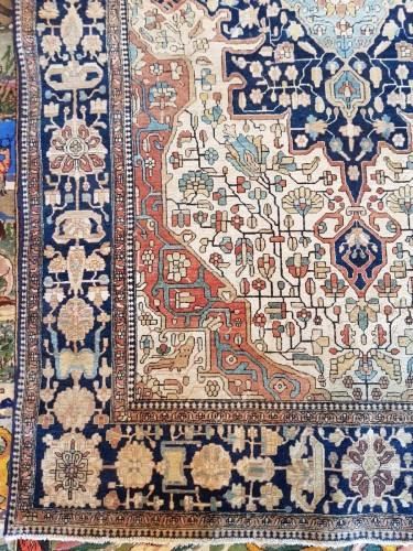 Kachan Mortachem Kork Wool carpet - Iran 19th Century - Tapestry & Carpet Style