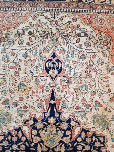 Kachan Mortachem Kork Wool carpet - Iran 19th Century -