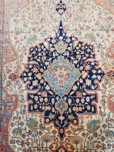 19th century - Kachan Mortachem Kork Wool carpet - Iran 19th Century
