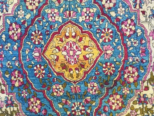 Tapestry & Carpet  - Teheran Wool Carpet Late 19th Century Iran