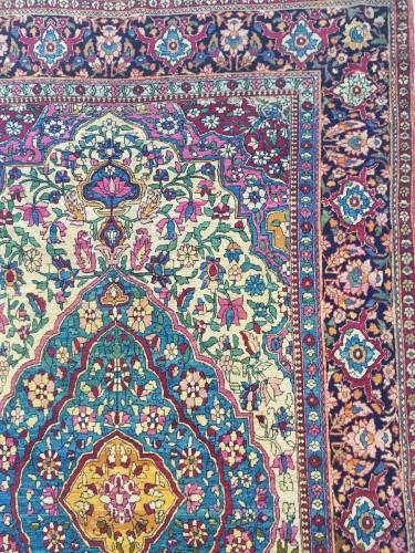 Teheran Wool Carpet Late 19th Century Iran -
