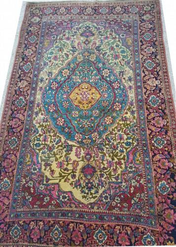 Antiquités - Teheran Wool Carpet Late 19th Century Iran