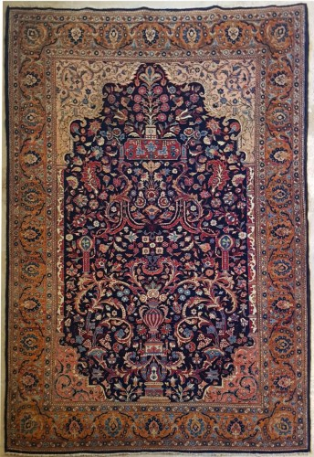 Kachan Mortachem Rug - Kork Wool Late 19th Century