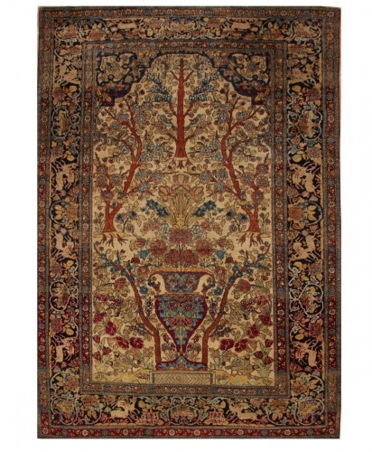 Isfahan Wool Kork carpet (iran) 19th century