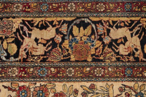 Isfahan Wool Kork carpet (iran) 19th century  - Tapestry & Carpet Style
