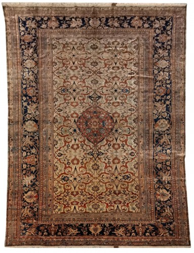 Heriz Silk carpet - North West Of Persia - Circa 1850