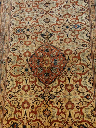 Heriz Silk carpet - North West Of Persia - Circa 1850 -