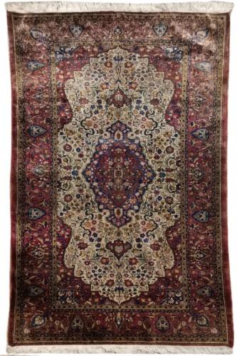 Rare  Kirman Silk carpet - Iran