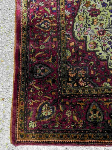 Tapestry & Carpet  - Rare  Kirman Silk carpet - Iran