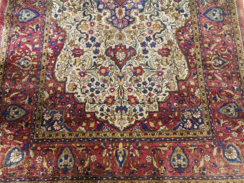 Rare  Kirman Silk carpet - Iran -