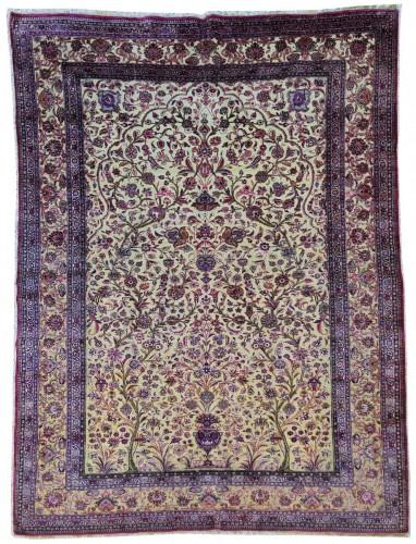 Fine Kachan Soof In Silk carpet - Persia Late 19th Century