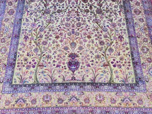 Fine Kachan Soof In Silk carpet - Persia Late 19th Century - Tapestry & Carpet Style