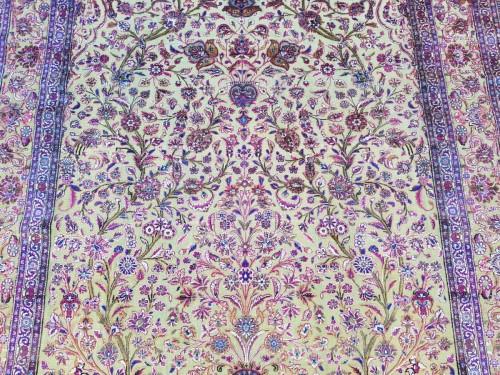 Tapestry & Carpet  - Fine Kachan Soof In Silk carpet - Persia Late 19th Century