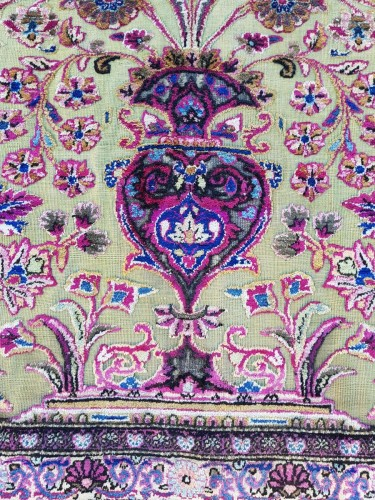 Antiquités - Fine Kachan Soof In Silk carpet - Persia Late 19th Century