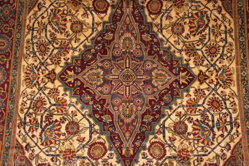 Tapestry & Carpet  - Carpet Ferahan Silk Around 1880 - Iran