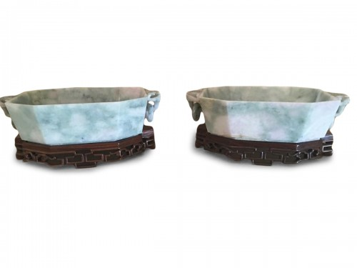 Pair Of Wedding Cup in Jade China 19th century