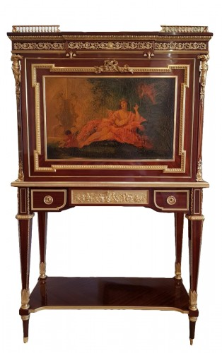 Mahogany Secretary by P. Sormani And Son In Paris