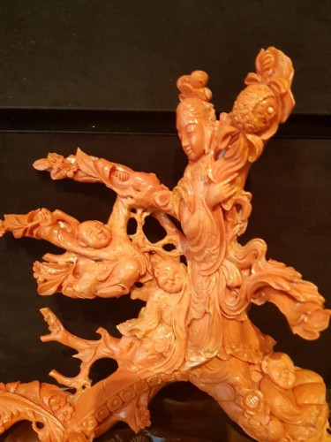 Coral group - China 19th Century - Asian Art & Antiques Style