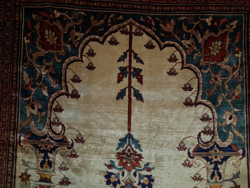 19th century - Heriz Soie Rug - Iran 19th