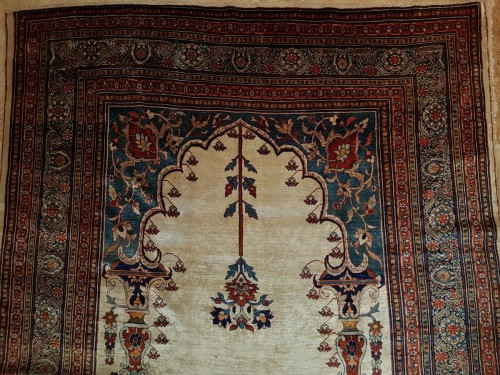 - Heriz Soie Rug - Iran 19th