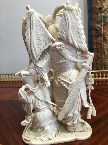 Ivory Group Monobloc From Beijing China Around 1920 - Asian Art & Antiques Style