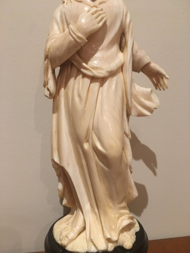 Saint John The Evengelist Ivory Dieppe Late 19th - Religious Antiques Style