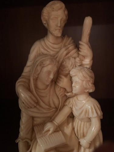 The Holy Family in ivory - Dieppe late 19th -