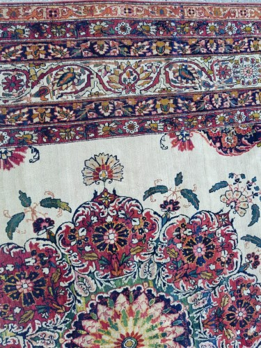 Tapestry & Carpet  - Kirman Laver Carêt - Persia Around 1870