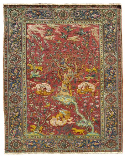 Kum Kapu Soof Embossed Signed Rug - Asia Minor Turkey 1890