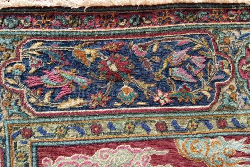 Kum Kapu Soof Embossed Signed Rug - Asia Minor Turkey 1890 - Tapestry & Carpet Style