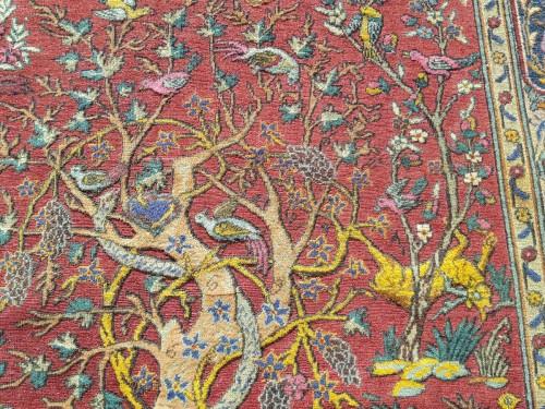 Kum Kapu Soof Embossed Signed Rug - Asia Minor Turkey 1890 -