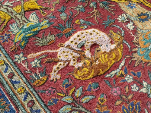 Kum Kapu Soof Embossed Signed Rug - Asia Minor Turkey 1890 -