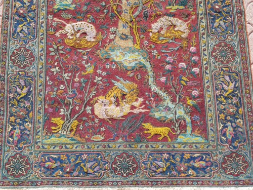 Antiquités - Kum Kapu Soof Embossed Signed Rug - Asia Minor Turkey 1890