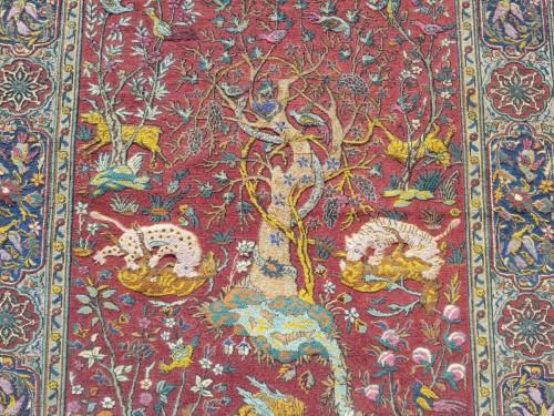 Antiquités - Kum Kapu Soof Embossed Signed Rug - Asia Minor Turkey 1890