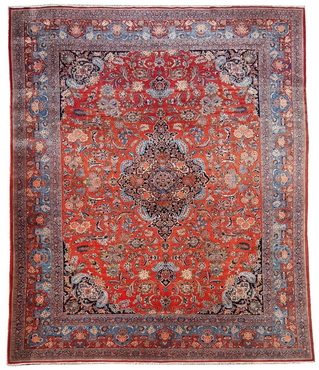Kachan Dabir Wool Rug Iran End Of 19th Century Large Size