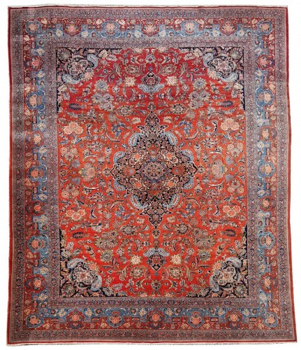 Kachan Dabir Wool Rug - Iran End Of 19th Century- Large Size