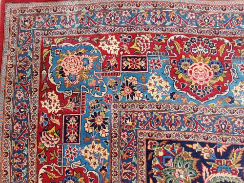 Kachan Dabir Wool Rug - Iran End Of 19th Century- Large Size - Tapestry & Carpet Style