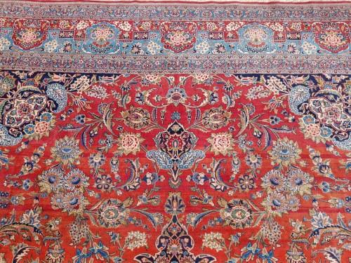 Tapestry & Carpet  - Kachan Dabir Wool Rug - Iran End Of 19th Century- Large Size