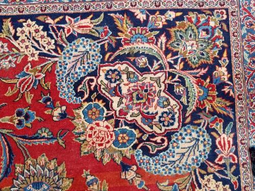 Antiquités - Kachan Dabir Wool Rug - Iran End Of 19th Century- Large Size