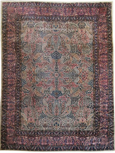 Kirman Wool Kork Wool - Iran Late 19th Century Shah Period