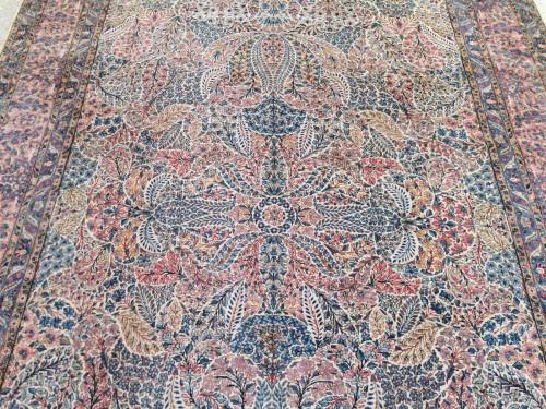 Tapestry & Carpet  - Kirman Wool Kork Wool - Iran Late 19th Century Shah Period