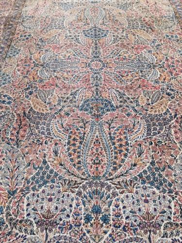 19th century - Kirman Wool Kork Wool - Iran Late 19th Century Shah Period