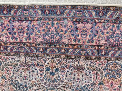 Kirman Wool Kork Wool - Iran Late 19th Century Shah Period -
