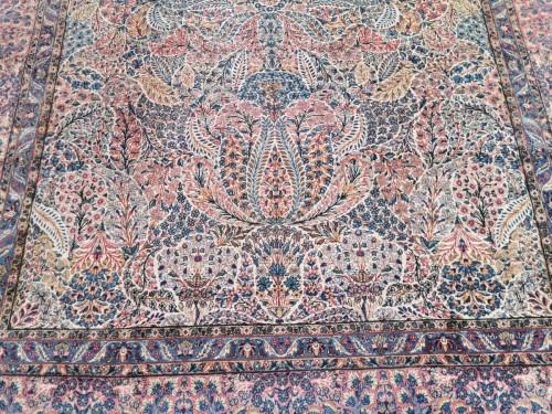 Antiquités - Kirman Wool Kork Wool - Iran Late 19th Century Shah Period