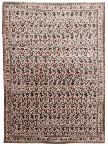 Fine Tehran Kork Wool On Coton - Iran Late 19th Century