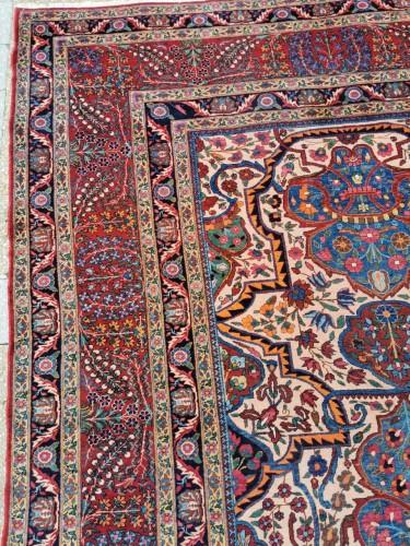 Large Kachan Manchester Carpet Kork Wool - Iran Circa 1880 -