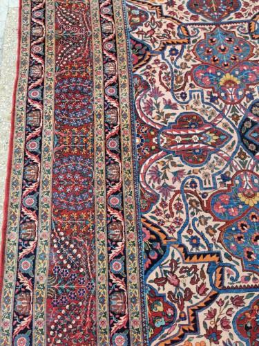 - Large Kachan Manchester Carpet Kork Wool - Iran Circa 1880