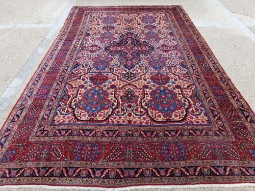 Antiquités - Large Kachan Manchester Carpet Kork Wool - Iran Circa 1880